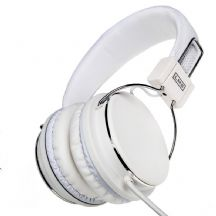 White Foldable Stereo Headphones - LMS Data LMH-733MV